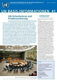 un basis-informationen 41 - Deutsche Gesellschaft für die Vereinten ...