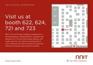 Visit us at booth 622, 624, 721 and 723 - NNIT
