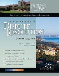 January 3-7, 2012 - Pepperdine University School of Law