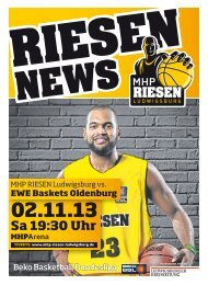 EWE Baskets Oldenburg - MHP RIESEN Ludwigsburg