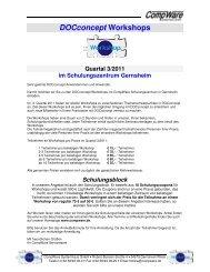 DOCconcept Workshops - CompWare Systemhaus GmbH