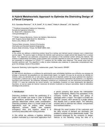 A Hybrid Metaheuristic Approach to Optimize the Districting Design ...