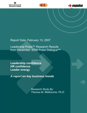 A Report On Key Business Trends - eePulse