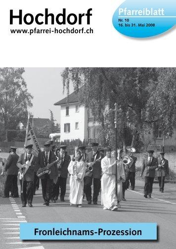 Pfarreiblatt - Pfarrei Hochdorf