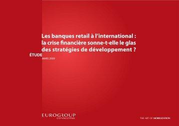Les banques retail à l'international - Eurogroup Consulting