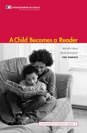 A Child Becomes a Reader - Eric - U.S. Department of Education