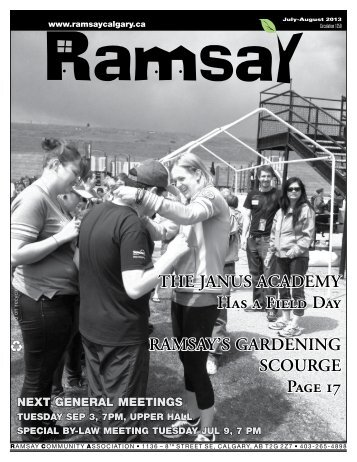 July/August newsletter - Ramsay Community Association in Calgary