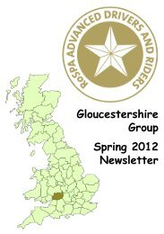 Spring 2012 - RoSPA Advanced Drivers and Riders