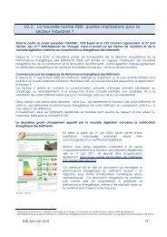 10.2. La nouvelle norme PEB: quelles implications pour le secteur ...