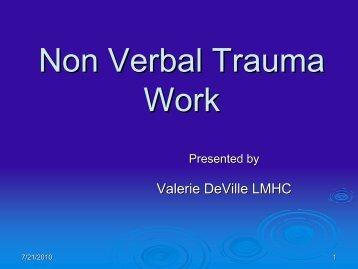 Non Verbal Trauma Work