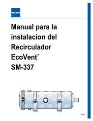 Manual para la instalacion del Recirculador EcoVentTM SM-337