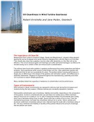Oil Cleanliness in Wind Turbine Gearboxes - Cjc.dk