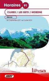 Horaires 91 - Conseil Général de Haute-Savoie