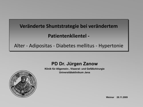 Adipositas - Dialyseshunt