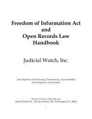 FOIA Handbook - Judicial Watch