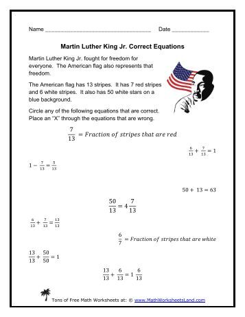 Martin Luther King Jr. Visual Addition - Math Worksheets Land