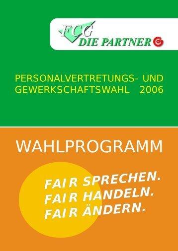 Wahlprogramm 2006 - Gewerkschaft der Gemeindebediensteten