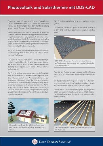 Photovoltaik und Solarthermie mit DDS-CAD - Vela Solaris