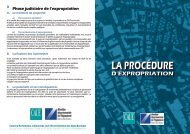 La procédure d'expropriation - CAUE 06