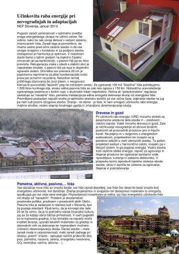 Učinkovita raba energije pri novogradnjah in ... - NEP Slovenija