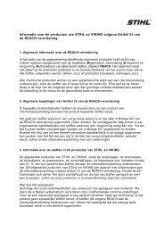 Informatie over de producten van STIHL en VIKING volgens Artikel ...