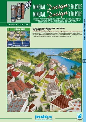 Scheda tecnica Mineral Design - Index S.p.A.