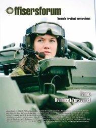 Tema: Kvinner i Forsvaret - Befalets Fellesorganisasjon