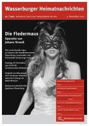 Wasserburger Heimatnachrichten 20 / 2010 - Wasserburg am Inn!