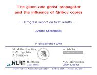 The gluon and ghost propagator and the influence of Gribov copies