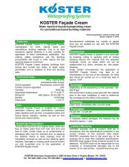 KOSTER Façade Cream - KOSTER American Corporation