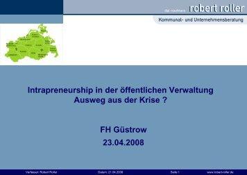 Facility Management - Intrapreneurship in der Verwaltung