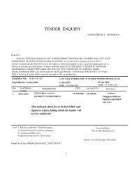 TENDER ENQUIRY - Cochin Shipyard