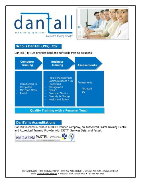 Who is DanTall (Pty) Ltd? - Cylex Business Directory South
