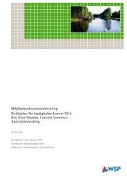 Miljökonsekvensbeskrivning Detaljplan för ... - Lerums Kommun