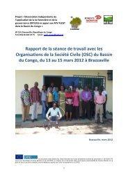 Rapport de la séance de travail avec les OSC du Bassin du Congo ...