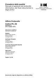 Manuale di gestione del protocollo informatico, dei flussi ...