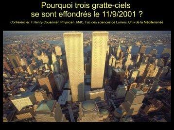Pourquoi trois gratte-ciels se sont effondrés le 11/9/2001 ?