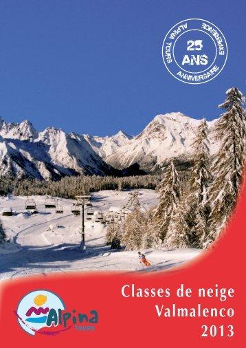Classes de neige Valmalenco 2013 - Alpina