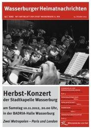 Herbst-Konzert - Wasserburg am Inn!