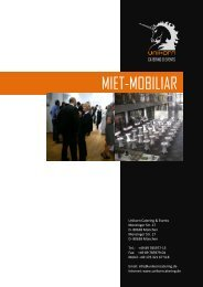 Mobiliar & Mietwäsche - Unikorn Catering