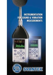 INSTRUMENTATION FOR SOUND & VIBRATION MEASUREMENTS