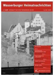 Wasserburger Heimatnachrichten 1 / 2006 - Wasserburg am Inn!