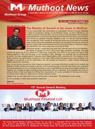 September Issue Newsletter - Muthoot Group