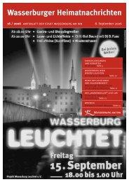 Wasserburger Heimatnachrichten - Wasserburg am Inn!
