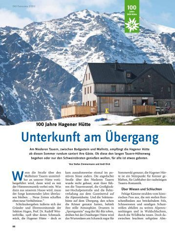 Panorama 2/2012 Hagener Hütte