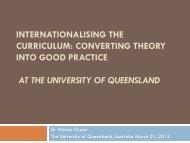 internationalising the curriculum: converting theory into ... - NVAO