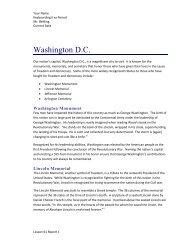 Washington D.C. - Mr. Behling's Web