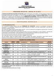 PROCESSO SELETIVO - EDITAL Nº 01/2013 - Instituto Mais