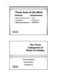 Traditional Logic I Chapter XIII - Memoria Press