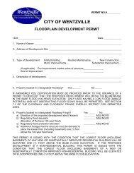 Floodplain Application - The City of Wentzville | Missouri